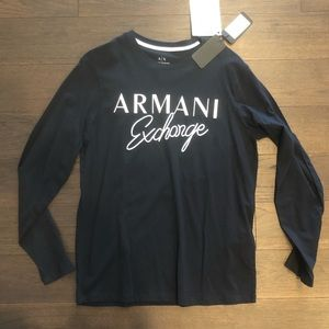 NWT men's navy armani exchange shirt